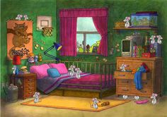 TOUCH dieses Bild: Dans la chambre, il y a . by valerie Gueraiche Core French, French Class, French Lessons, French Teacher, Teaching French, Teaching English, Spanish Teaching Resources, French Resources, French Grammar