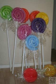 24. #Swimming Pool Noodle #Lollipop - 40 Outstanding #Party Favors You Can #Customize for Your Next Party ... → DIY #Little