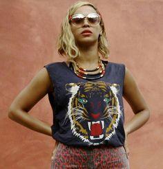 Tiger Shirt and Leopard Print Shorts