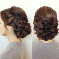 Beautiful updo Hairdo Wedding, Bridal Hair Updo, Wedding Hairstyles For Long Hair, Wedding Hair And Makeup, Hair Makeup, Quince Hairstyles, Work Hairstyles, Bride Hairstyles, Pretty Hairstyles