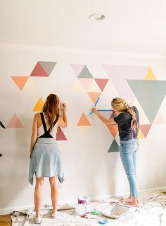DIY Geometric Wall M