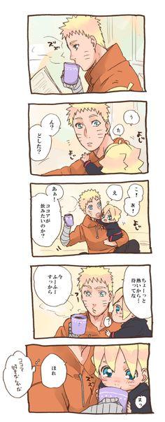 Naruto and Boruto Naruto Comic, Anime Naruto, Naruto Kawaii, Naruto Cute, Naruto Funny, Naruhina, Naruto Uzumaki, Boruto And Sarada, Sasuke