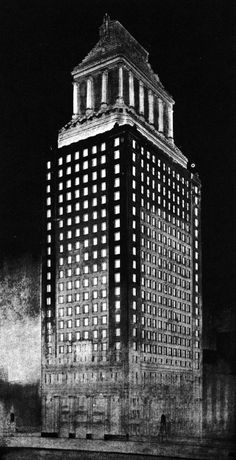 Franklin James Hunt, Entry to the Chicago Tribune Tower Competition, 1922