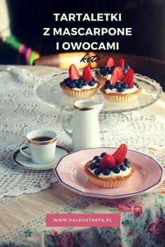Tartaletki z mascarpone i owocami (keto) - Paleo Strefa Moniki Piaseckiej