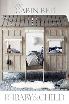 Charming detailing, board-and-batten design and kid-friendly scale distinguish our lofted bed. Not just a spot to sleep, it doubles as a fort, playhouse, or cabin in the woods for your little adventurer. Save 25% on everything with the RH Members Program.