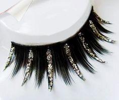 False eyelashes high quality fake lashes pure color handmade artistic eyelashes sequins 151006RY01