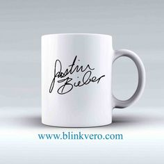 Justin Bieber Signature Awesome Mug Ceramic Mug Ceramic Mug Funny Coffee Cup Chocolate Mug at low price