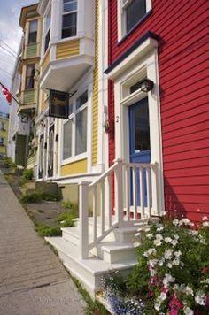 """Jelly Bean Row""  in St. Johns, Newfoundland, Canada"