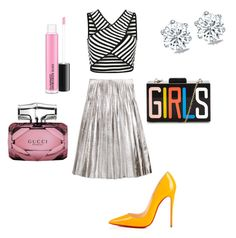 """Untitled #32"" by imani-ciera on Polyvore featuring Gucci and Christian Louboutin"