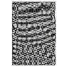 Fab Rugs Estate Veria Hand-Woven Black/White Indoor/Outdoor Area Rug