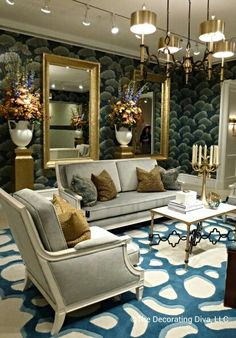 Living Room: Absolutely drop-dead gorgeous decor at Studio A by Global Views. Spotted: High Point Market 2013 #HPMKT