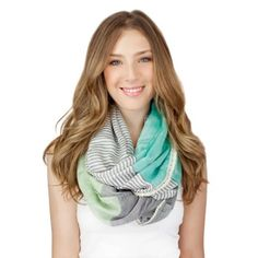 Colorblock Infinity Scarf. #scarf  #fashion 9thelm.com