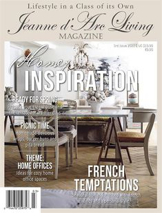Jeanne d'Arc Living Magazine - April 2021 - 3rd Issue, Homes with Atmosphere - PREORDER - Ships April 6, 2021 Vintage Country, Country Chic, Country Decor, European Garden, Flea Market Decorating, Picnic Time, Living Magazine, Inspired Homes, Cozy House