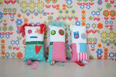 patchwork doll cute bright cushion doll by xxxRedStitcHxxx