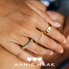 Choose from ANNIE HAAK's selection of gleaming Gold rings and ring stacks. Featuring dainty charms and stunning colours, combine them to create your very own unique look. Stacking Rings, Annie, Gold Rings, Charms, Rings For Men, Wedding Rings, Rose Gold, Colours, Engagement Rings