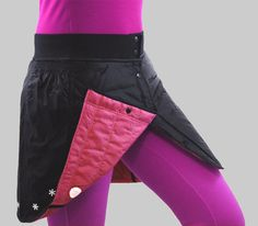 Two Sided Quilted Winter Running Skirt, Skiing Skirt, Winter Sports Skirt,Winter Wrap  Skirt by Jenny Vals Sportswear