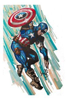 Captain America Avengers Print
