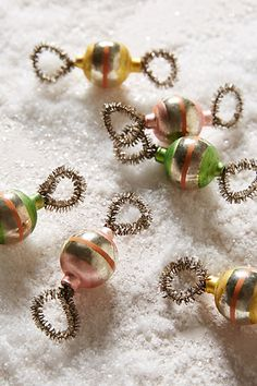 Tinsel Ball Ornament Set #anthrofave