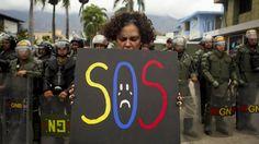 SOS. Una imagen de la situación en Venezuela.
