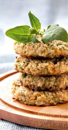 Hambúrguer de quinoa com aveia