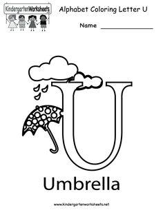 Printable Alphabet Letter U Template! Alphabet Letter U