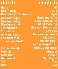 The Dutch language is spoken by people around the world. Including more than half of the population in Belgium Dutch Language, Language Study, Dutch Bros, Dutch Phrases, Dutch Netherlands, Dutch People, Going Dutch, Family Roots, Dutch Recipes