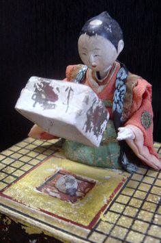 Gimmick sequence.Mechanism doll Japan late Edo,16 cm .