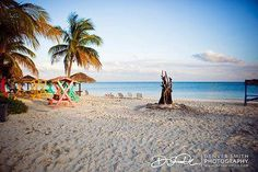 Grand Bahamas Wedding - Great spot for a Grand Bahamas wedding Rehearsal Beach Bonfire at Pelican Bay on Grand Bahama Island.  Photo courtesy | Denver Smith Photography.