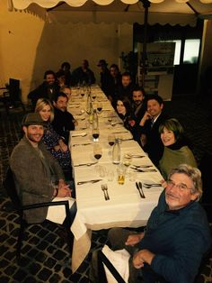 From Clif:  Just out for dinner with a few friends   Good times with great people