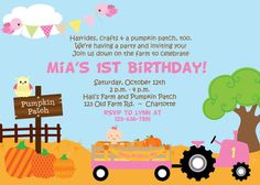 First Birthday Pumpkin Patch Birthday Party by TheButterflyPress