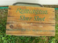 Vintage Wood Crate REMINGTON Shur Shot by DocsOddsandEnds on Etsy