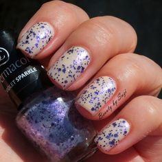 Dermacol Nail Polish With Effect, 09 Violet Sparkle + Dermacol Nail Polish Advent Calendar, #1