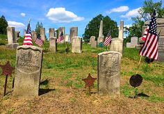 The side-by-side graves of 8th Connecticut Corporal Robert Ferriss and Sergeant David Lake in Center Cemetery in New Milford, Conn. Ferriss was killed at Antietam. Lake was mortally wounded there, dying on Sept. 18, 1862, a day after the battle, from a bullet wound to the bowels. New Milford, Military Service, Connecticut, Cemetery, Soldiers, American History, Bullet, Battle, David