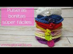 Pulsera súper fácil de ganchillo. Super easy crochet bracelet. - YouTube