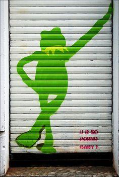 Streetart Berlin - Mr. Fahrenheit by URBAN ARTefakte, via Flickr Berlin Graffiti, Street Art Graffiti, Collage Illustration, Illustrations, Painting Collage, Paintings, Berlin Street, Graffiti Artwork, Painted Doors