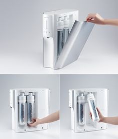 CONVEX TO by Kim Seungwoo ___________________________ water purifier hot & cool easy to use filter maintenance aluminum good usability slim compact design Simple Designs, Cool Designs, Electric House, Medical Design, Water Dispenser, Concave, Consumer Products, Cool Things To Make, Modern Design