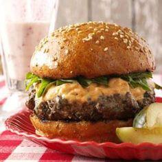 Basil Burgers with Sun-Dried Tomato Mayonnaise