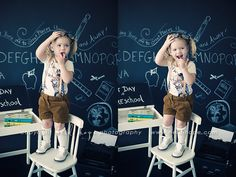 First day of school photo shoot. I will do this.
