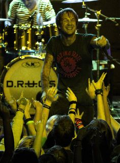 Craig Owens of D.R.U.G.S. (Destroy Rebuild Until God Shows) at the Hawthorne Theatre in Portland Feb. 15, 2012.