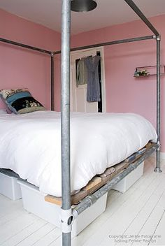 interesting take on a canopy bed
