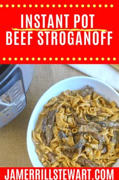 Instant Pot beef stroganoff is one of those recipes that look hard but are easy to put together. The Instant Pot tenderizes the beef perfectly. Beef Stroganoff Instant Pot Recipe, Stroganoff Recipe, Low Carb Marinara, Large Family Meals, Pepper Steak, Beef Casserole, Those Recipe, Soup Recipes, Chicken Recipes