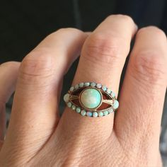 I am so in love with this! Victorian gold and opal East/West eye. All original…