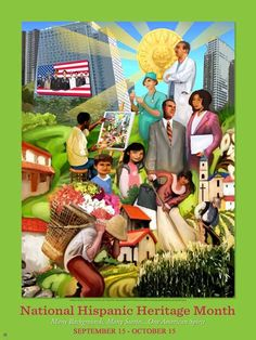 Hispanic Heritage Month 2011 Poster: Many Backgrounds, Many Stories, One American Spirit