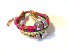 Teopan Metal Bracelet (Fuschia Bold & Purple Haze)