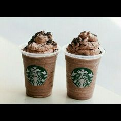 Oreo Order a double chocolate chip frap  Top with choclate or whipcrem