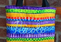 How To Make A Summer Book Tote on Bernina's We All Sew website.