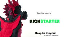 "waywardmasquerade: ""Dragon Bagons - the CR10 dicebags are coming soon to Kickstarter. Preview the Kickstarter here (I'm feeling very silly about forgetting to include tumblr in the outro >."
