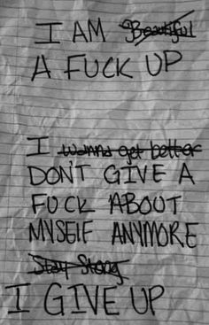 This is exactly how I feel sometimes...... But there's no way in hell I'm giving up.