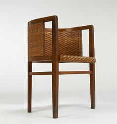 WILHELMSCHMIDT  chair  Prag Rudniker KorbfabrikationWien Germany , 1901 oak, caning, brass