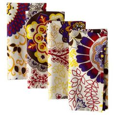 Boho Boutique Lourdes Napkins Set of 4 - 18x18....target $19.99   MAKE INTO THROW PILLOWS, SEW SIDES/BOTTOM THEN FILL WITH FILLER...USE MATCHING TABLE LINEN FOR DRAPES!
